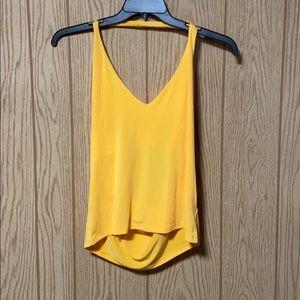 Leith Halterneck Yellow Blouse